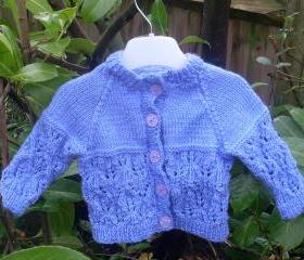 Hand Knitted Baby Cardigan - Various Sizes & Colours